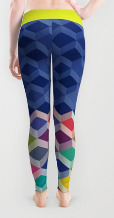 leggings geometric pattern cubism
