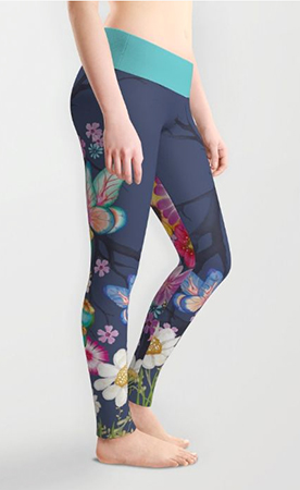 leggings glowing flowers