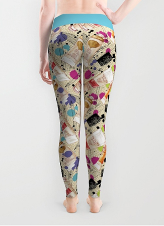 leggings paint it