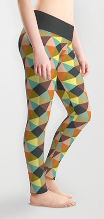 leggings geometric pattern simply symmetry