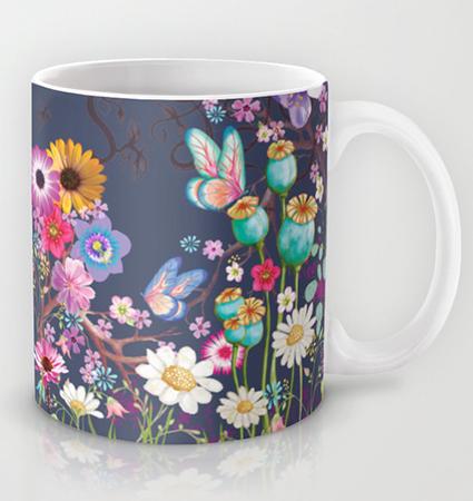 Mug glowing grey