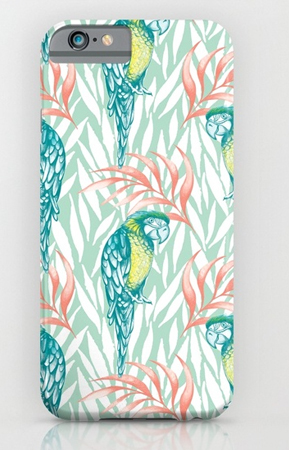 tropical pastels phone cover