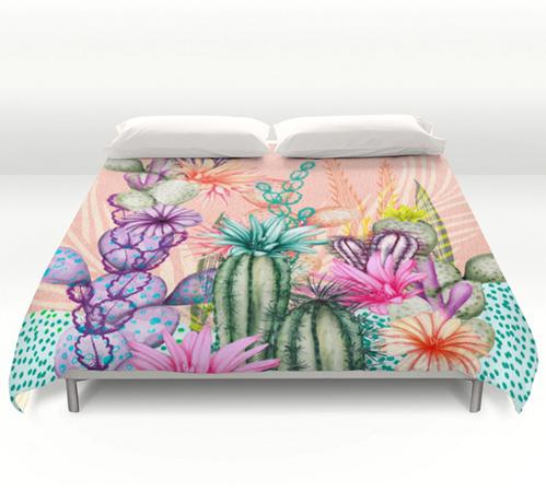 Cacti Love Duvet