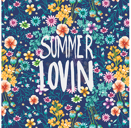 summer lovin flowers illustration