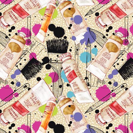 Illustration-Lifestyle creation pattern painting artist pattern