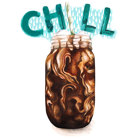 Food and drink Illustration Cold brew coffee chill