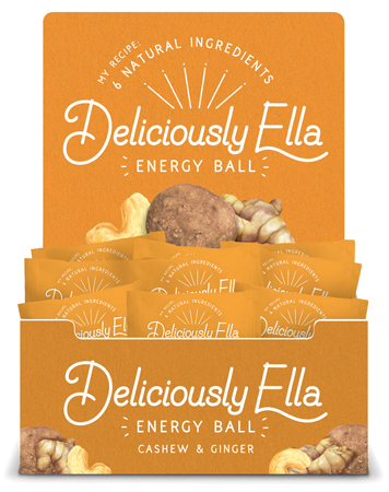 Food illustration Deliciously Ella Energy Ball Packaging Cashew and ginger