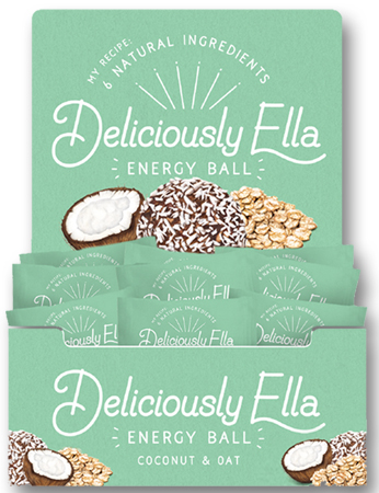 Food illustration Deliciously Ella Energy Ball Packaging Coconut and oats2