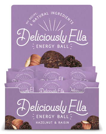 Food illustration Deliciously Ella Energy Ball Packaging Hazelnut And Raisin