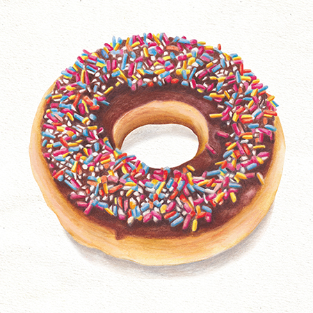 Food illustration Doughnut