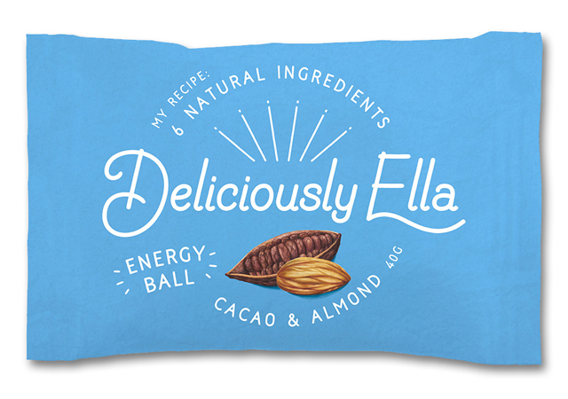 Food illustration Packaging Cacao and almond