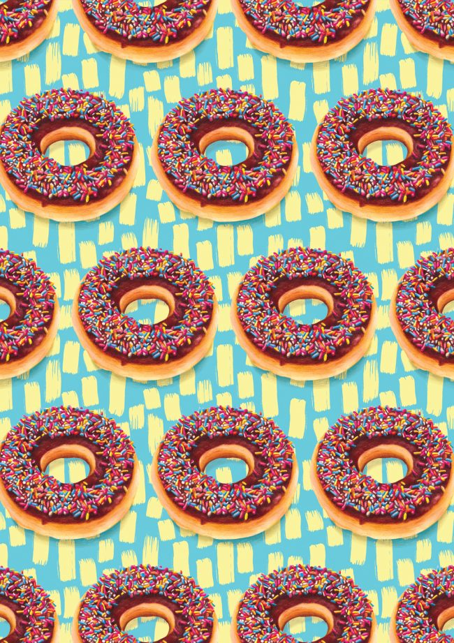 Doughnut-food pattern