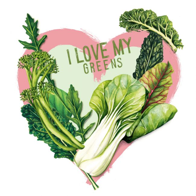 Food-illustration-i-love-my-greens-healthy-lifestyle-healthy-eating plant based diet nutrition