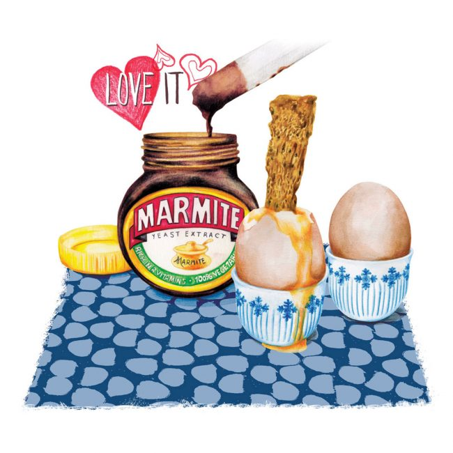 Food-illustration-marmite-food-nostalgia-packaging egg and soldiers