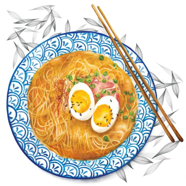 Food-illustration-ramen-bowl-winter-warmer-comfort-food