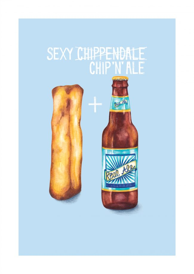 food-illustration-food-pun-chip-and-ale