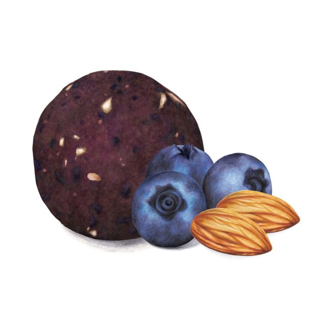 food-illustration-packaging-design-blueberry-and-almond-energyball-Deliciously-Ella