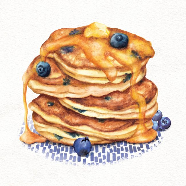food-illustration-pancake-stack-with-blueberries