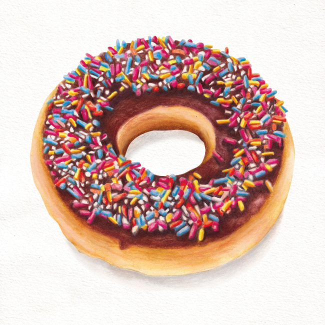 food-illustration-ring-doughnut