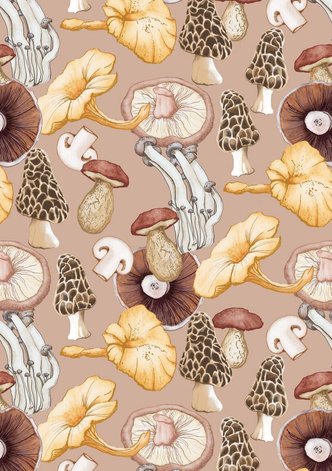 mushrooms-food-pattern