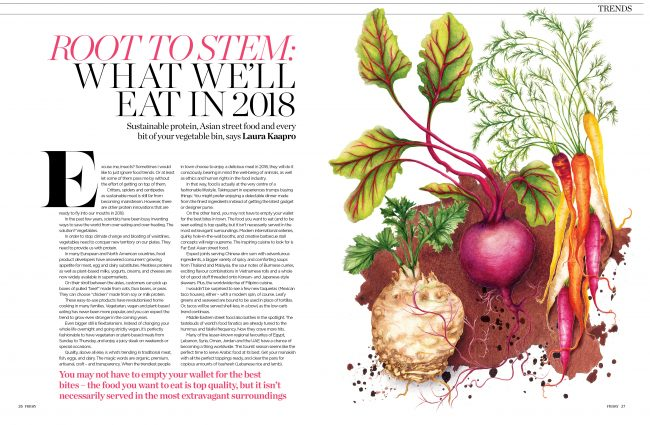 Editorial-food-illustration-food-trends-2018 root vegetables healthy eating healthy lifestyle sustainable living