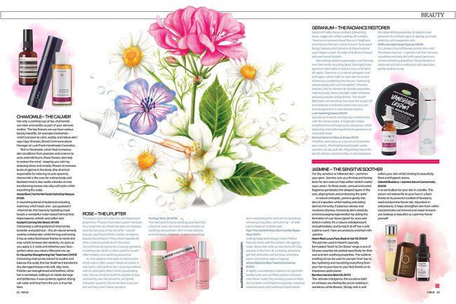 Watercolour flower power editorial illustration botanicals beauty nature