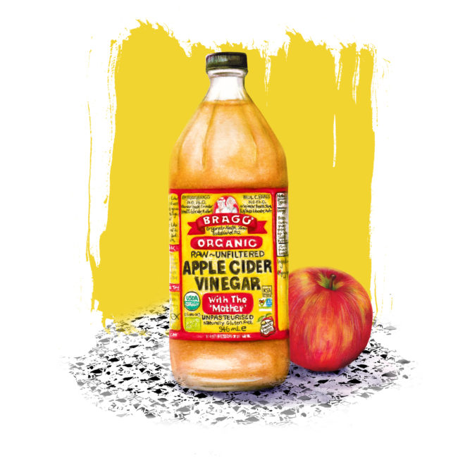 apple-cider-vinegar-watercolour food illustration-still-life