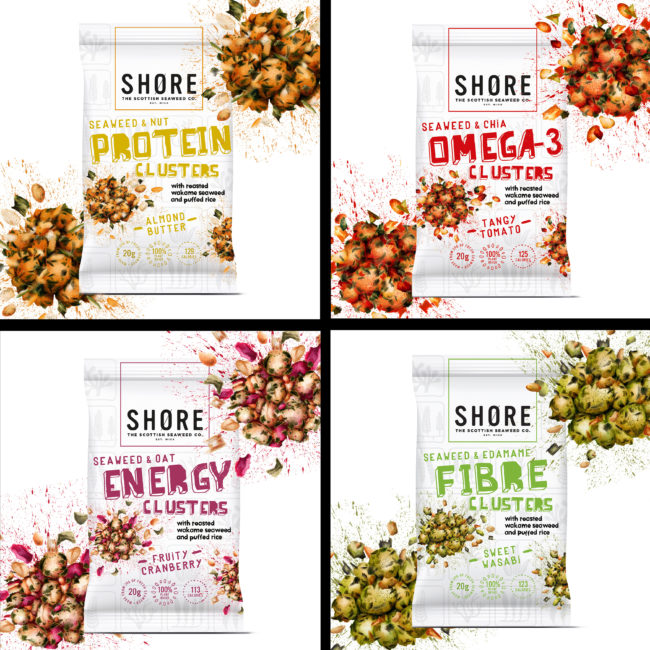 healthy snack branding watercolour food packaging illustration