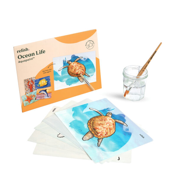 sea turtle illustration ocean life dementia activity product