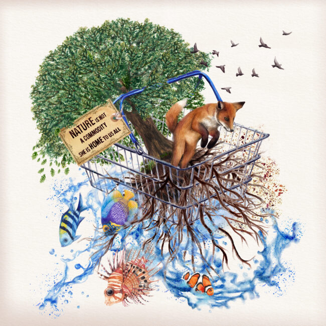 world nature conservation nature is not a commodity environmental art